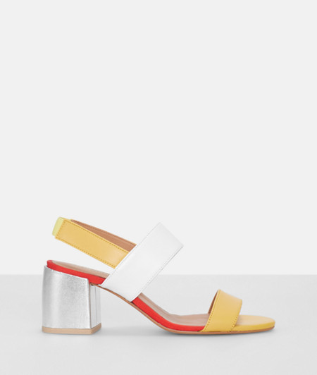 Sandals with a block heel from liebeskind
