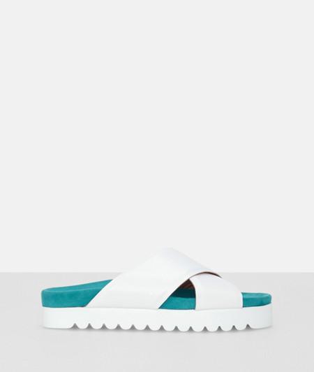 Sandale mit Plateauabsatz