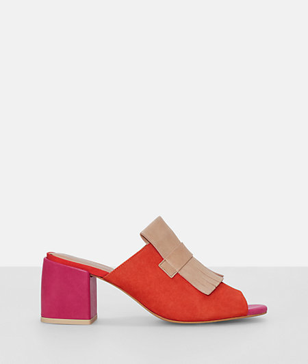 Mules with a block heel from liebeskind