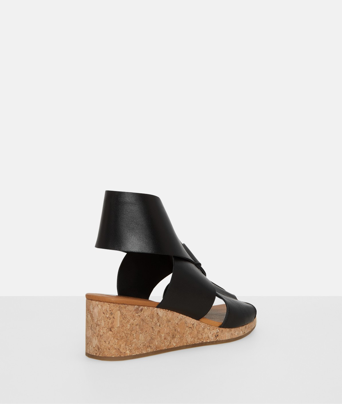 Wedge sandals with leather straps from liebeskind