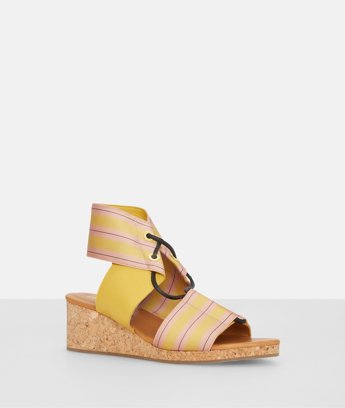 Striped wedge sandals from liebeskind