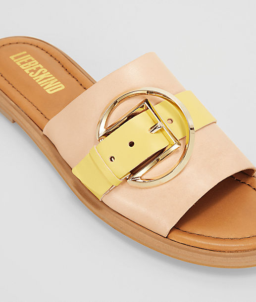 Sandals with a large buckle from liebeskind