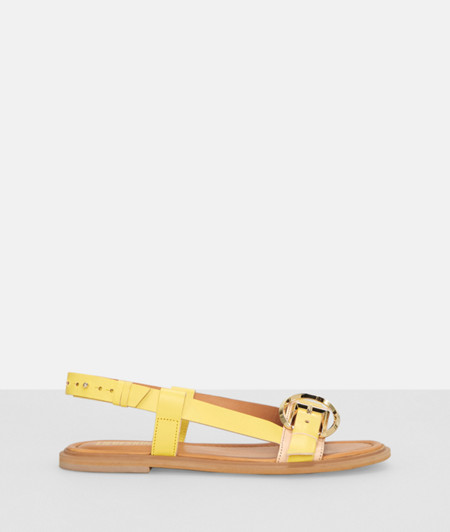 Sandals with a metal buckle from liebeskind