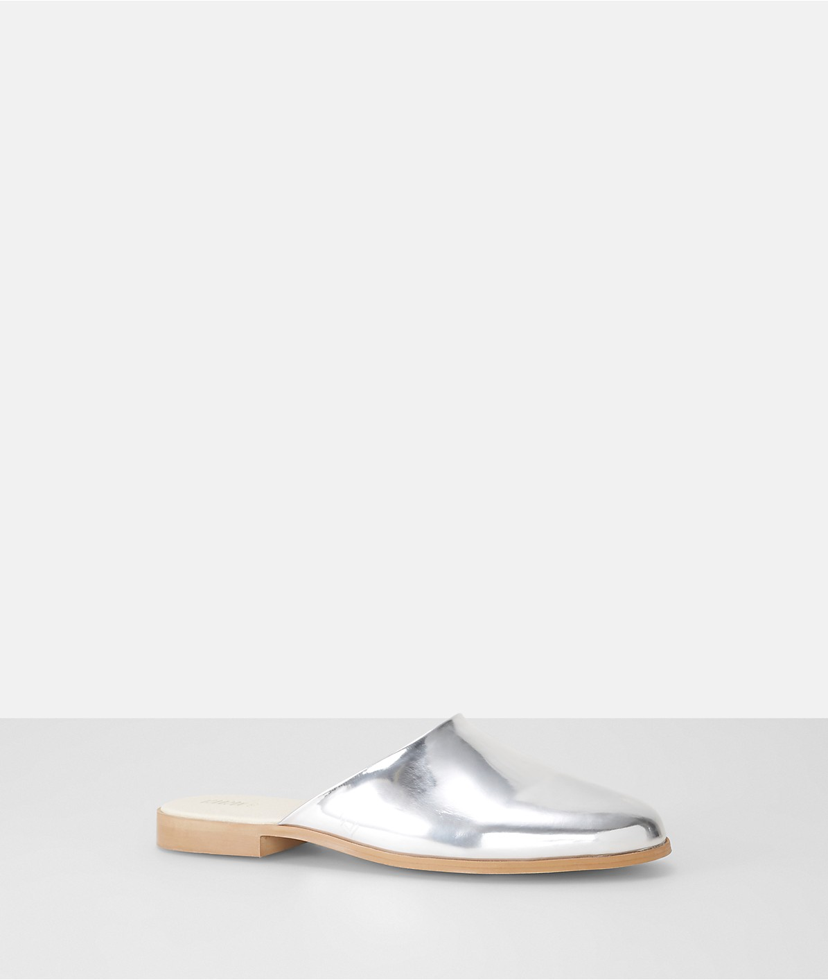 Pantolette in Metallic-Optik