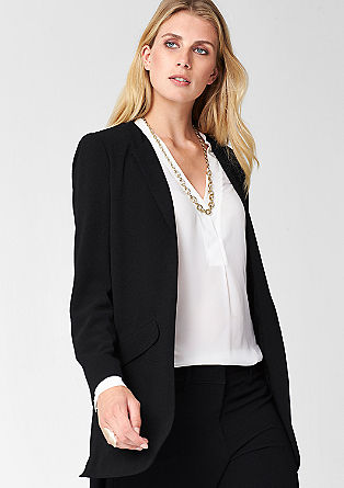 Crêpe long blazer from s.Oliver