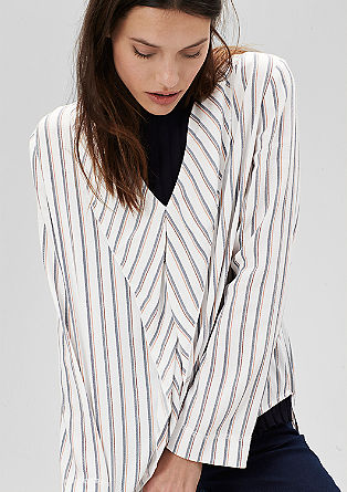 Striped mullet hem blouse from s.Oliver