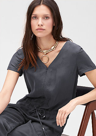 Jumpsuit with an elegant shimmer from s.Oliver