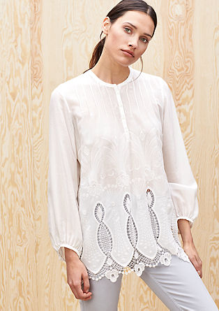 Elegant blouse with embroidery from s.Oliver