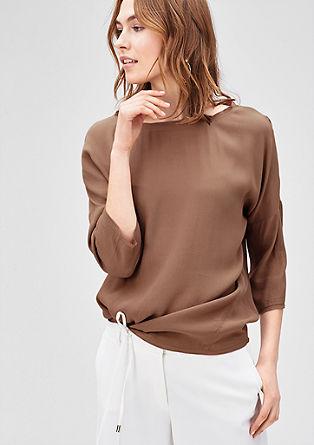 Bluzna majica v kožnih odtenkih