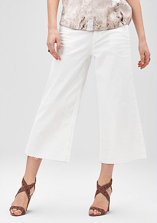 Culottes with an unfinished hem from s.Oliver