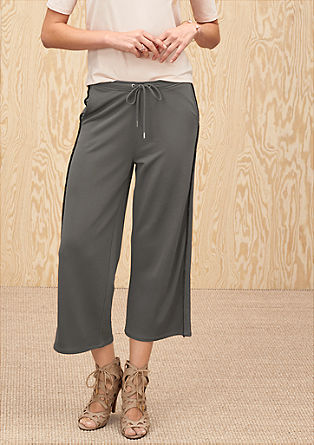 Culottes with fringing from s.Oliver