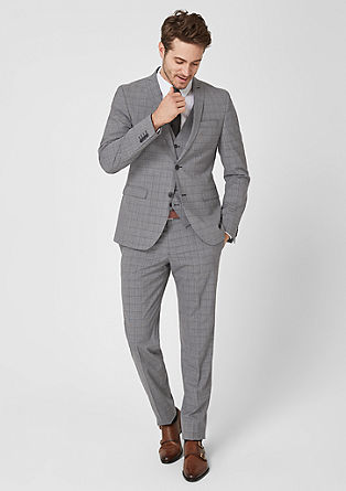 Slim : suit with a Prince of Wales pattern from s.Oliver