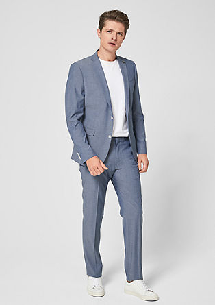 Slim: classic tailored suit from s.Oliver