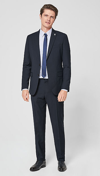 Regular: Pinstripe suit from s.Oliver