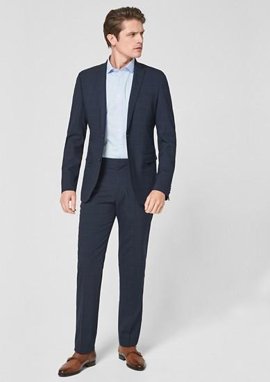 Slim: kostuum met prince-de-gallesmotief