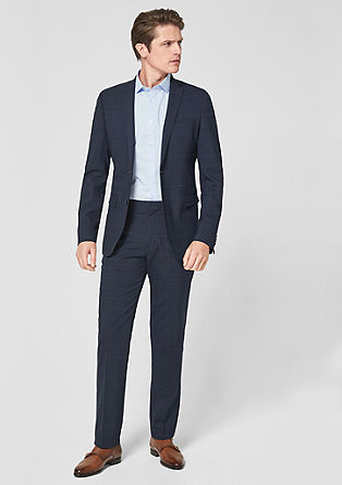 0d02b59534c Slim: Glencheck-Suit from s.Oliver
