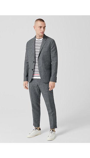 Slim: Baumwoll-Leinen-Mix-Anzug