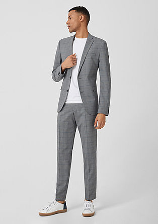 Slim: Prince of Wales check suit from s.Oliver