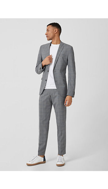 Slim: Glencheck-Anzug