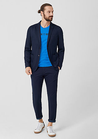 Slim: pinstripe jogg suit from s.Oliver