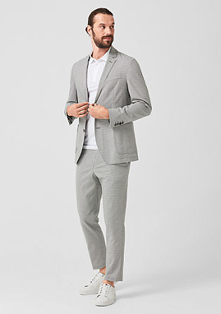 s.OCLEVER Slim: check tailored suit from s.Oliver