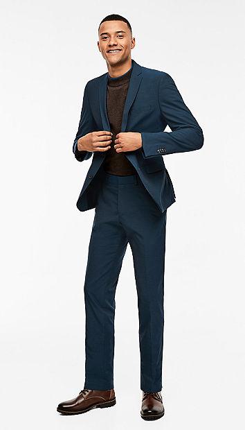 Slim: melange sports suit from s.Oliver